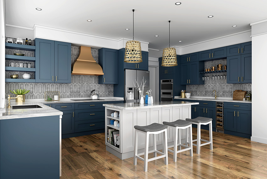Buy Imperial Blue Frameless Kitchen Cabinets Online Frameless Kitchen Cabinets Online Kitchen Cabinets Shaker Kitchen Cabinets