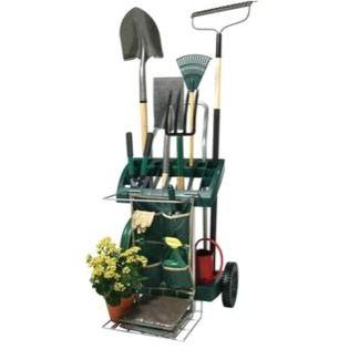 Vertex Deluxe Mobile Garden Tool Cart Organizer Garden Tools