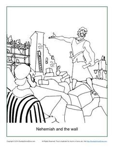 Nehemiah and the wall coloring page pinterest for Nehemiah coloring page