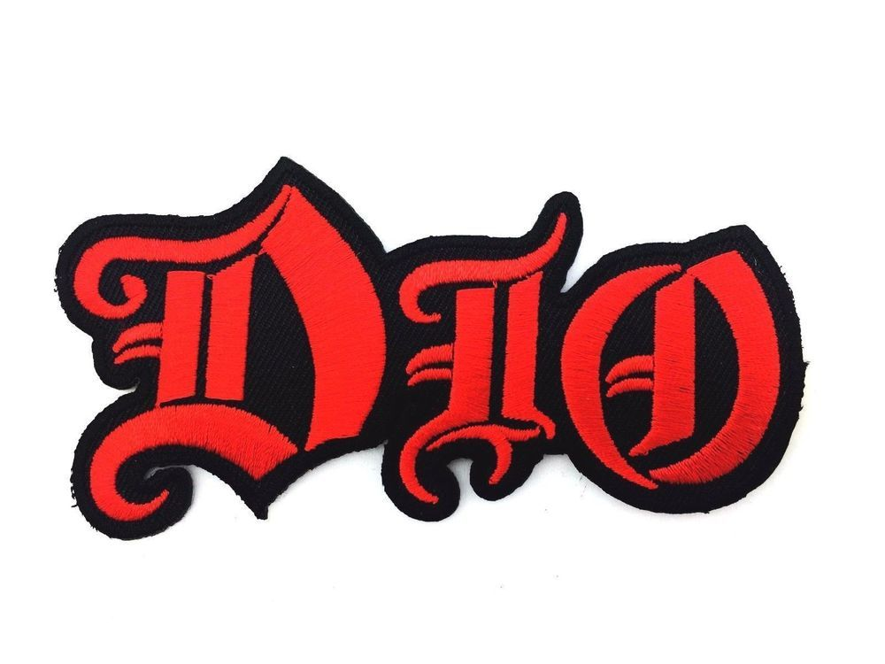 dio sew iron on patch embroidered american heavy metal rock band rh pinterest com Hair Band Logos 1980s Heavy Metal Bands Listinh