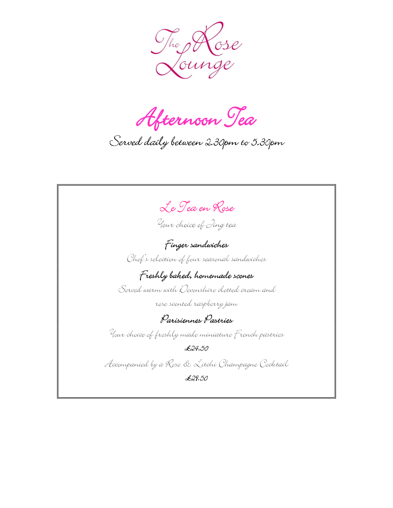 Vintage Afternoon Tea Menu Template  Google Search  High Tea