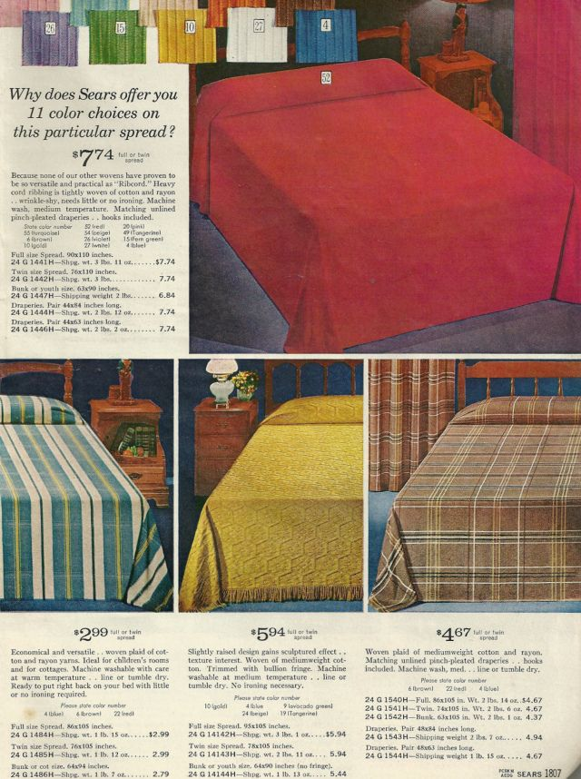 1960 S Sears Kitchen Bing Images Chenille Bedspread