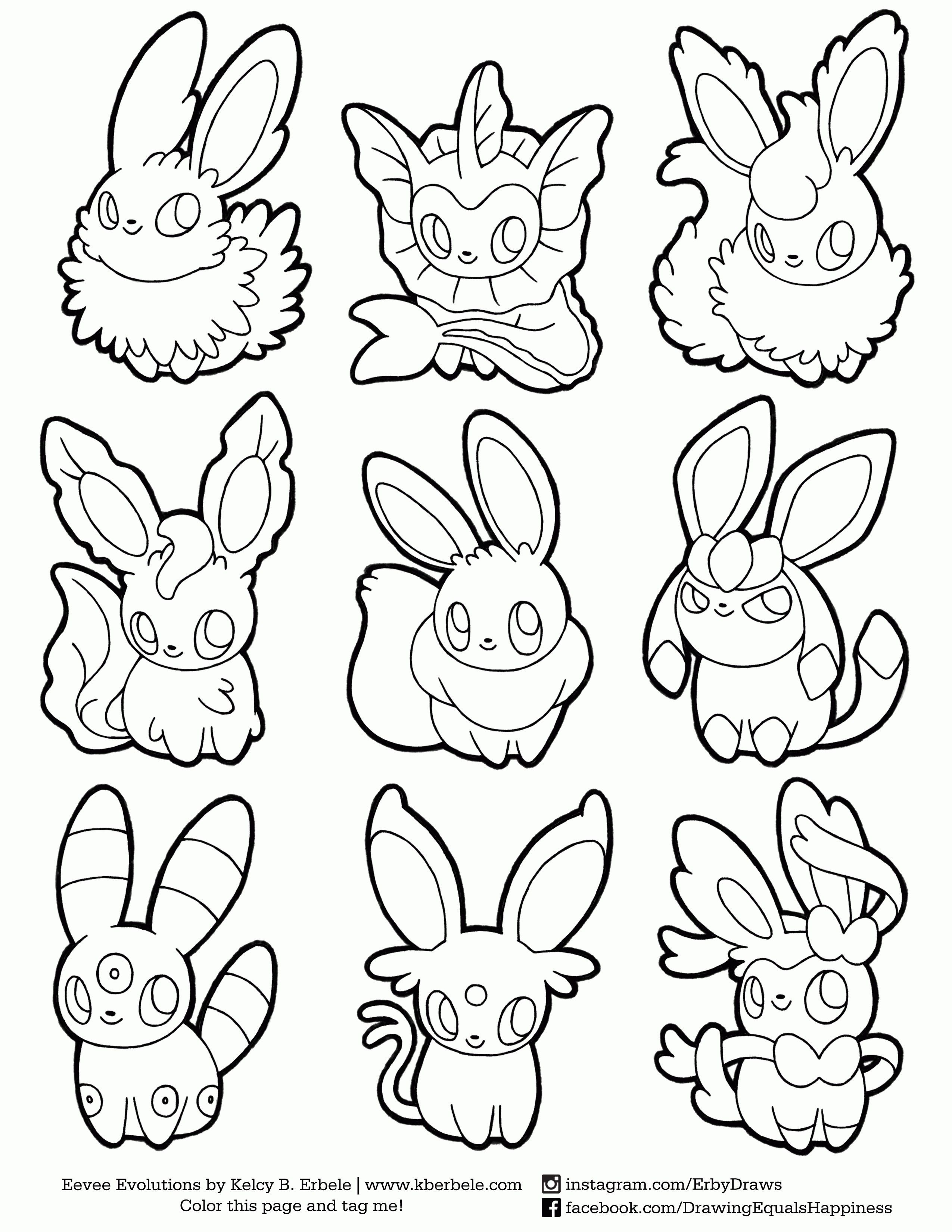 Pokemon Coloring Pages Eevee Evolutions Sylveon Pokemon Coloring