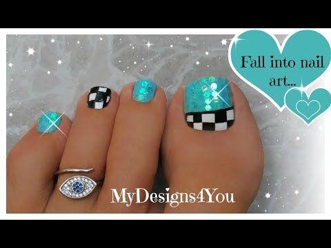Fun Checkered Toe Nail Art Tutorial Youtube