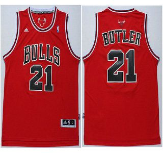 Chicago Bulls #1 Derrick Rose Revolution 30 Swingman Red Jersey