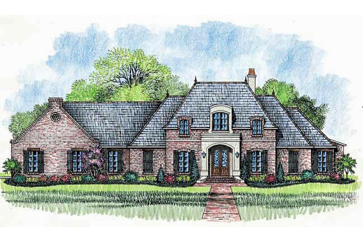 Plan 56342sm French Country Home Plan With Wide Open Spaces French House Plans Country Style House Plans Madden Home Design