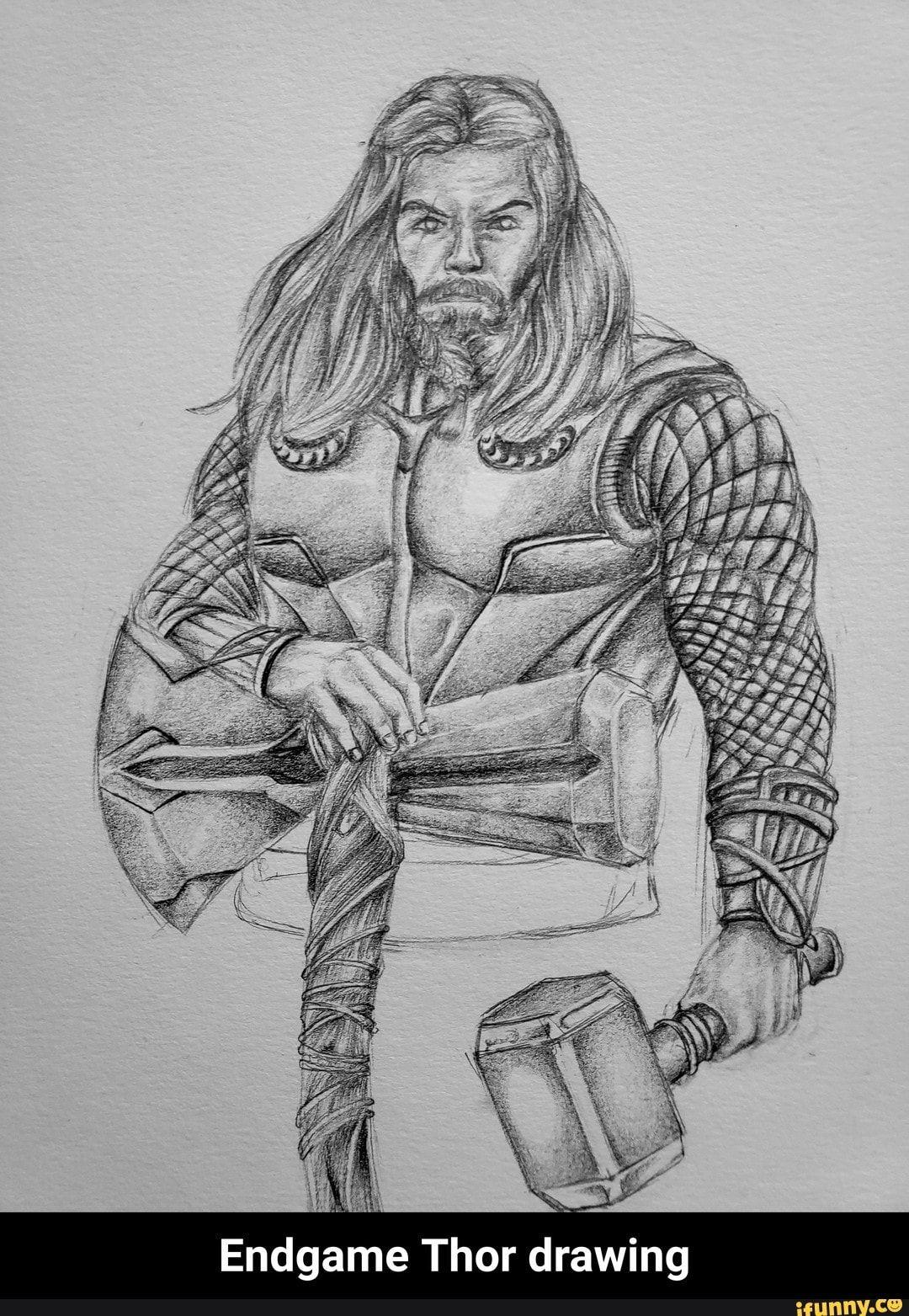 Endgame Thor Drawing Endgame Thor Drawing Ifunny Thor
