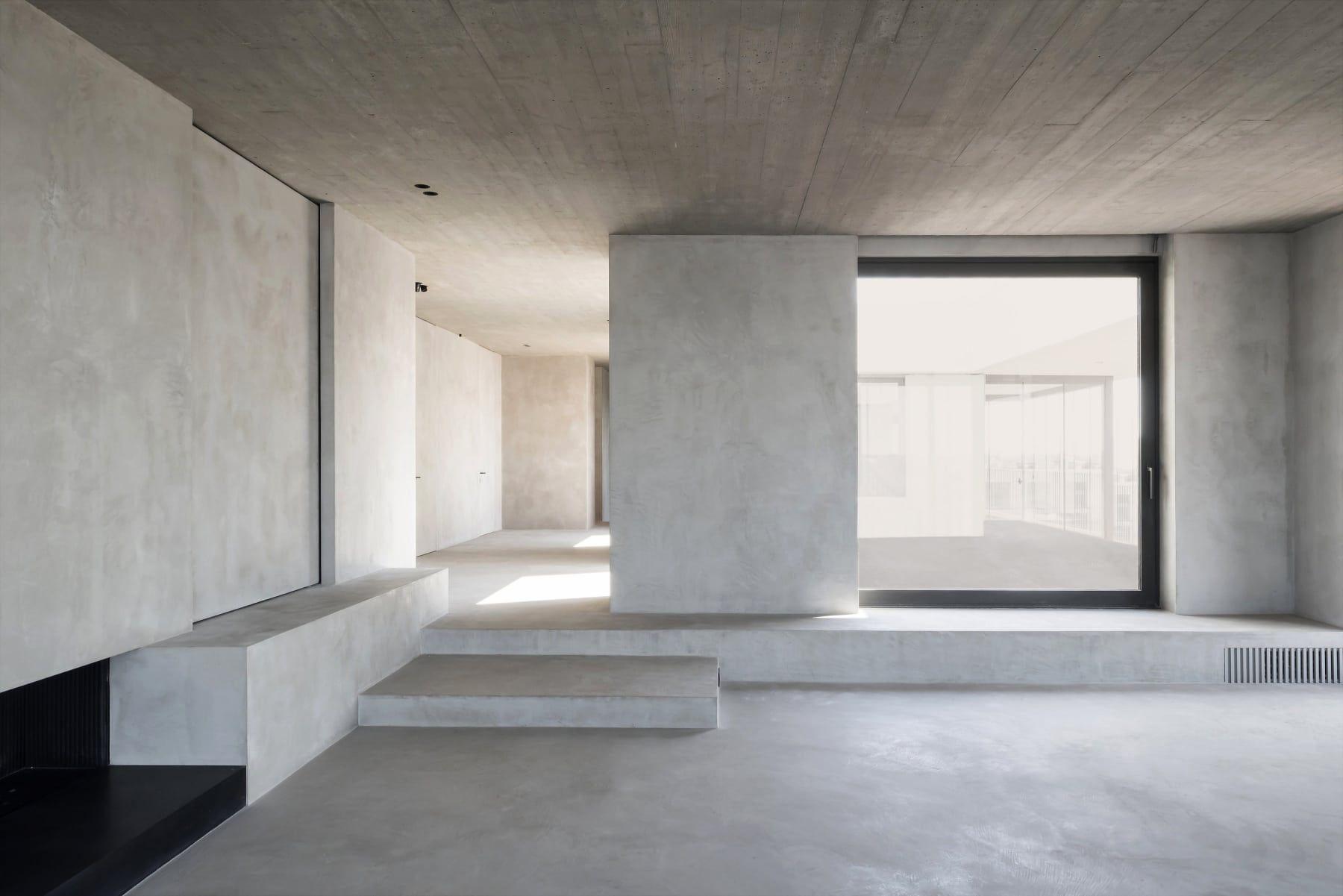 Nobles penthouse mit einem herrlichen blick auf die umgebung