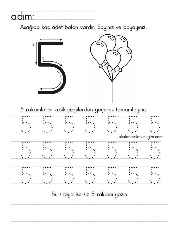 Pin by Ayşe Arslan on sayı | Pinterest | Math, Worksheets and Number ...