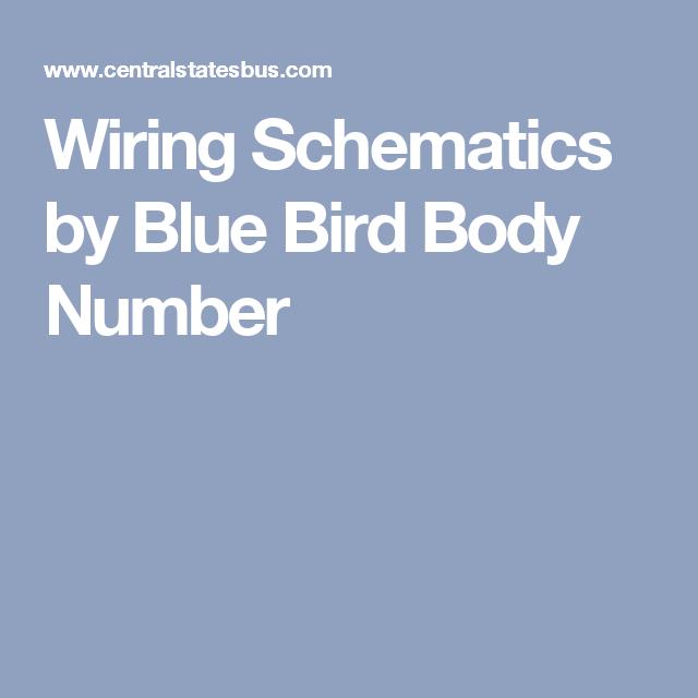 Wiring Schematics By Blue Bird Body Number Buses For Sale Body Blue Bird