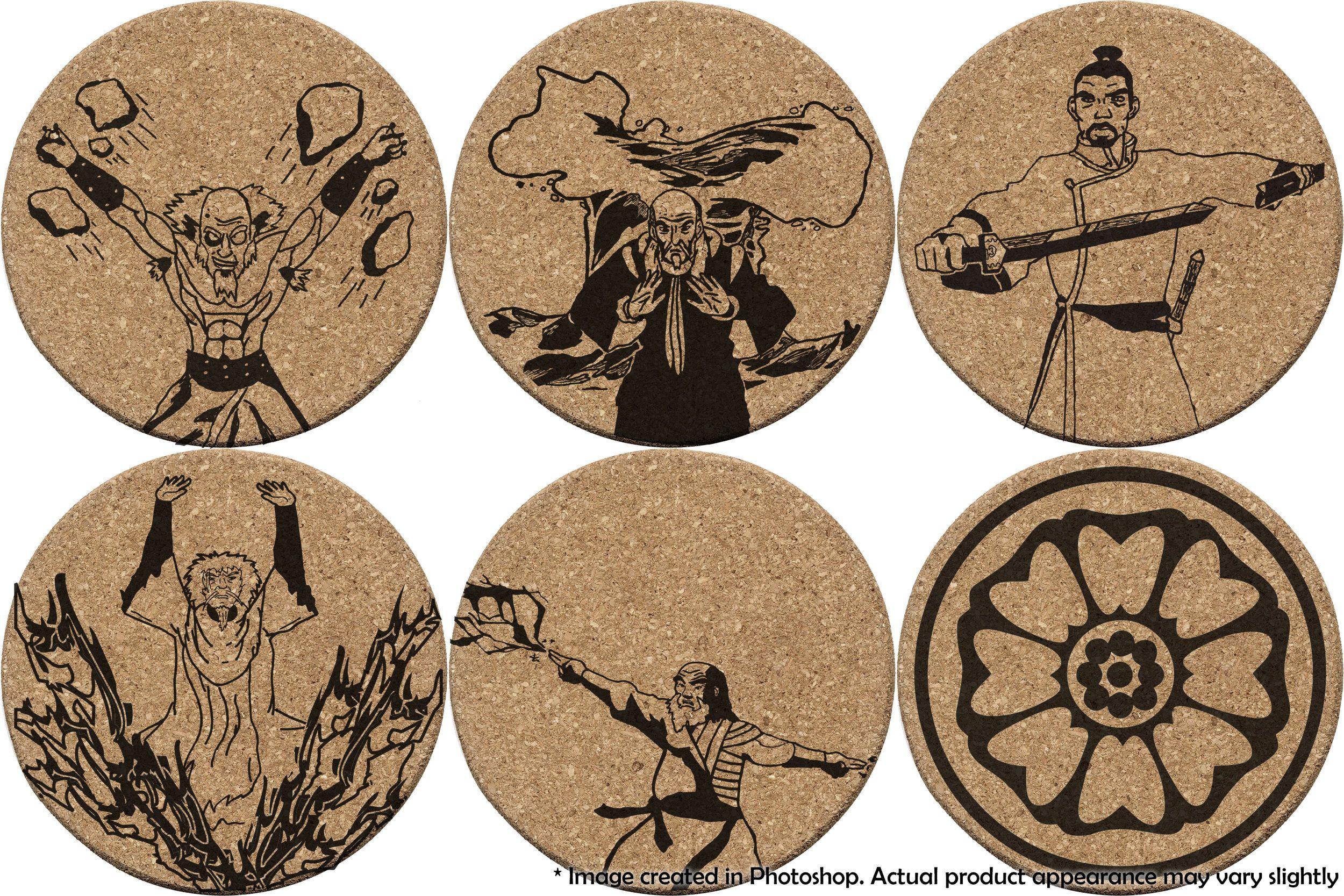 Avatar White Lotus Coaster Set With Images White Lotus Steel