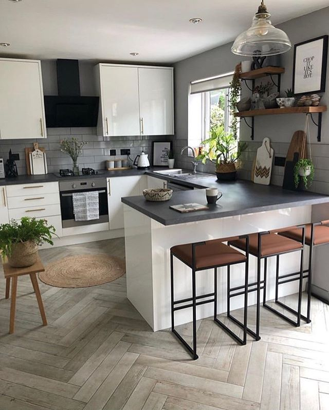 Good Morning Happy Sunday Lovely People Beautiful Kitchen By My Grey Place Follow Stor Small Modern Kitchens Kitchen Design Small Modern Kitchen Design
