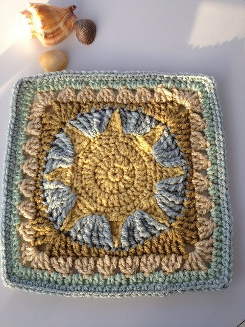 Beachy Sun/African Sun Square: free pattern. | Crochet & Knitted ...