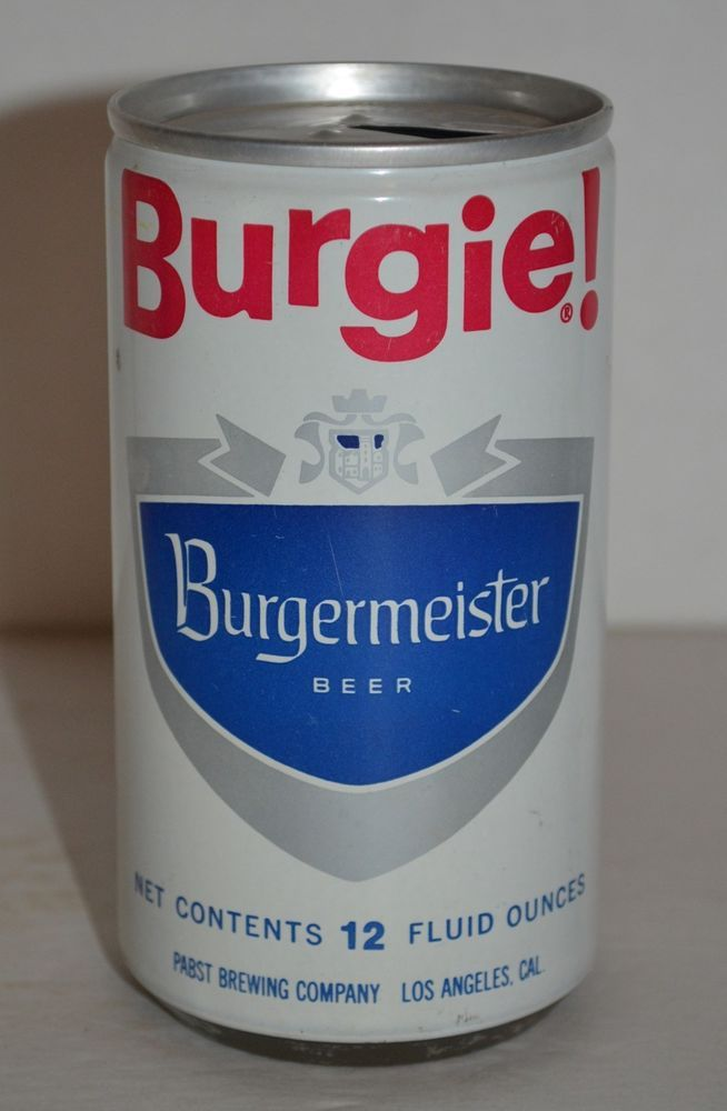 Burgie Burgermeister Beer Vintage Pull Tab Can Pabst Brewing Company 12 Fl Oz Burgieburgermeisterbeer Vintage Beer Vintage Beer Labels Beer House