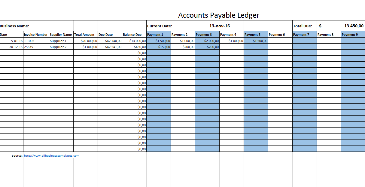 Accounts Payable Legder - Download this Accounts Payable Legder ...