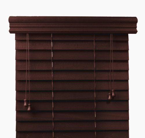 Mahogany 2 Customized Bass Wood Blinds Width 30in Free Shipping
