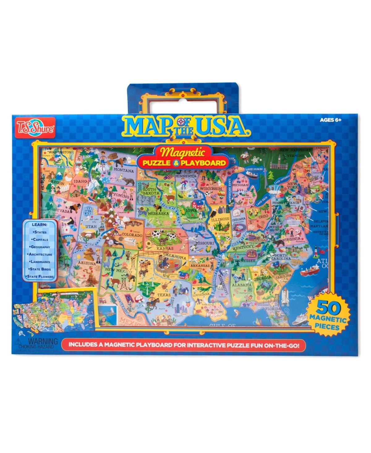 T S Shure Usa Magnetic Playboard Puzzle