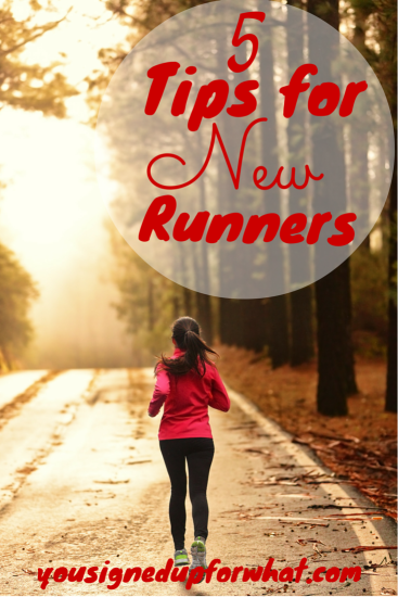 5 Tips for New Runners. Running information, advice, and tips.