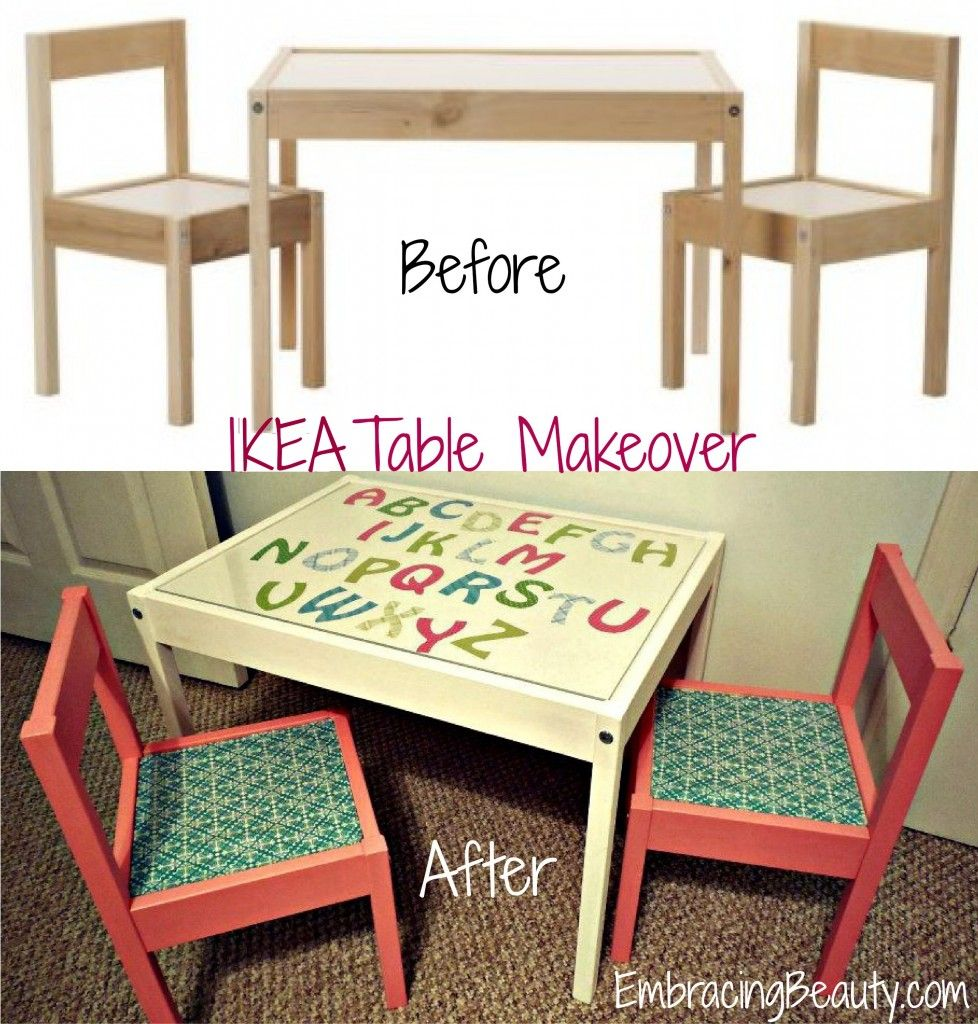 Ikea table makeover kid s ideas pinterest infantiles - Ikea cabecero infantil ...