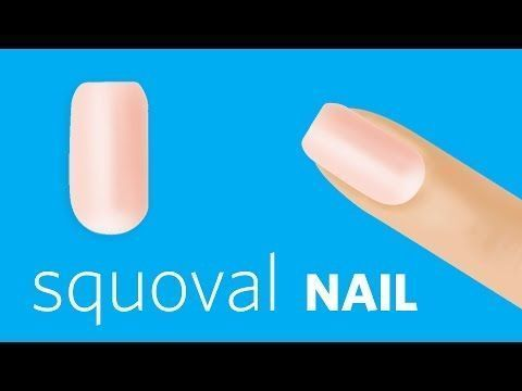 So feilen Sie Squoval Nails – YouTube #AcrylicNailsStiletto #BeautyHacksNails #Acr …