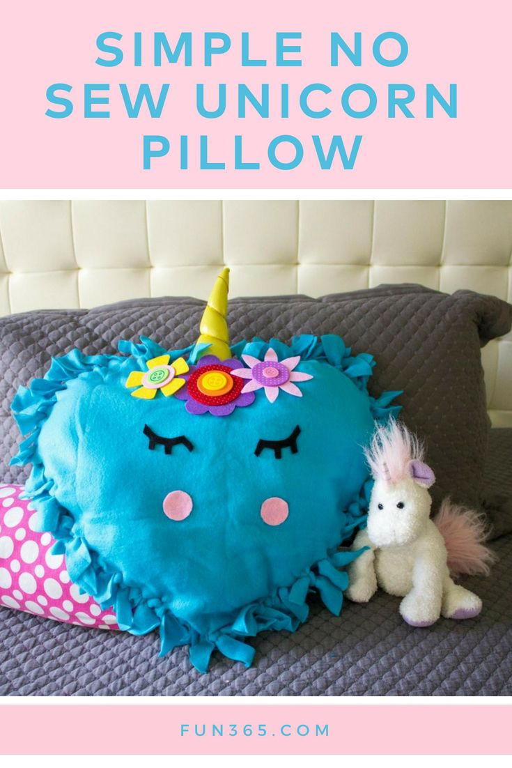 This adorable pillow is easy to make and simply a must for any