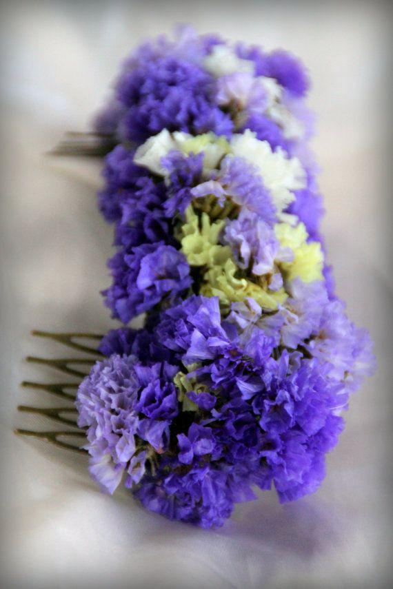 Peineta De Flores Secas Siemprevivas Dried Flowers Flowers Handmade