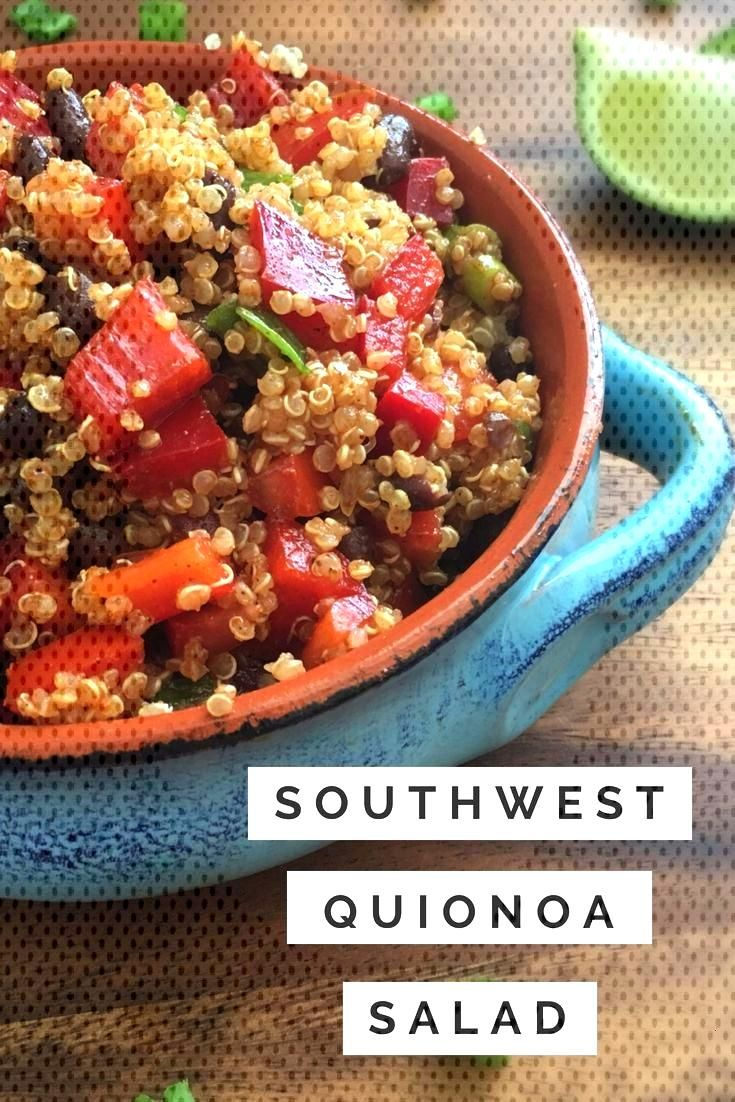 Southwest Quinoa Salad This recipe for Southwest Quinoa salad is a great side to dish, or can be us