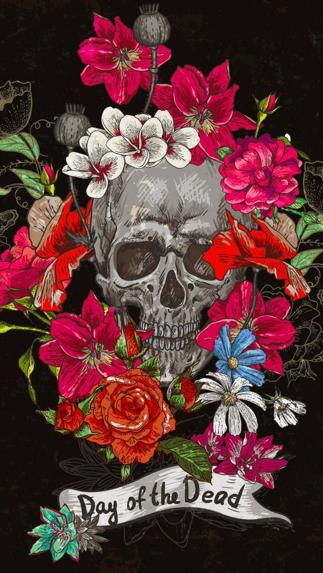 Pin By Alanis On Iphone Wallpapers Skull Wallpaper Sugar