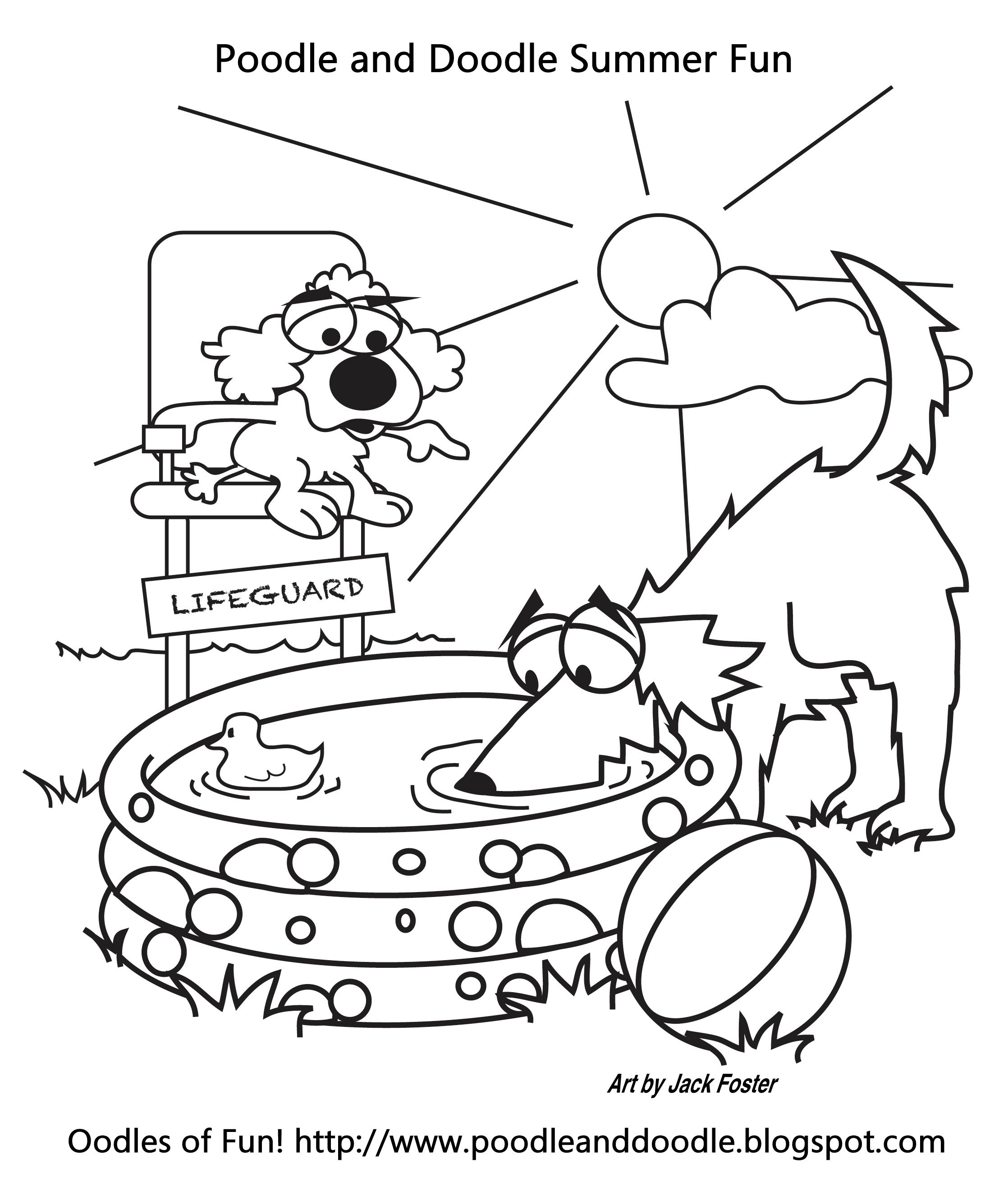 Summer Is Coming Poodle Doodle Teacher Activity Coloring