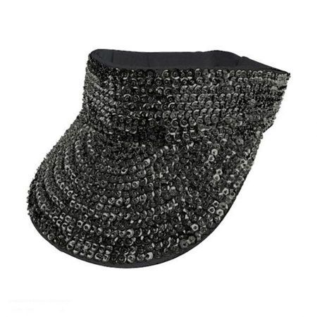 586689adf20ca Black Sequin Visor available at  VillageHatShop