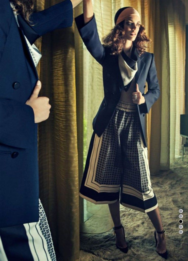 Publication: Harper's Bazaar UK January 2012 Model: Rianne Ten Haken Photographer: Sebastian Kim Fashion Editor: Melanie Huynh Hair: Kevin Ryan Make-up: Alice Lane Nails: Maki Sakamoto