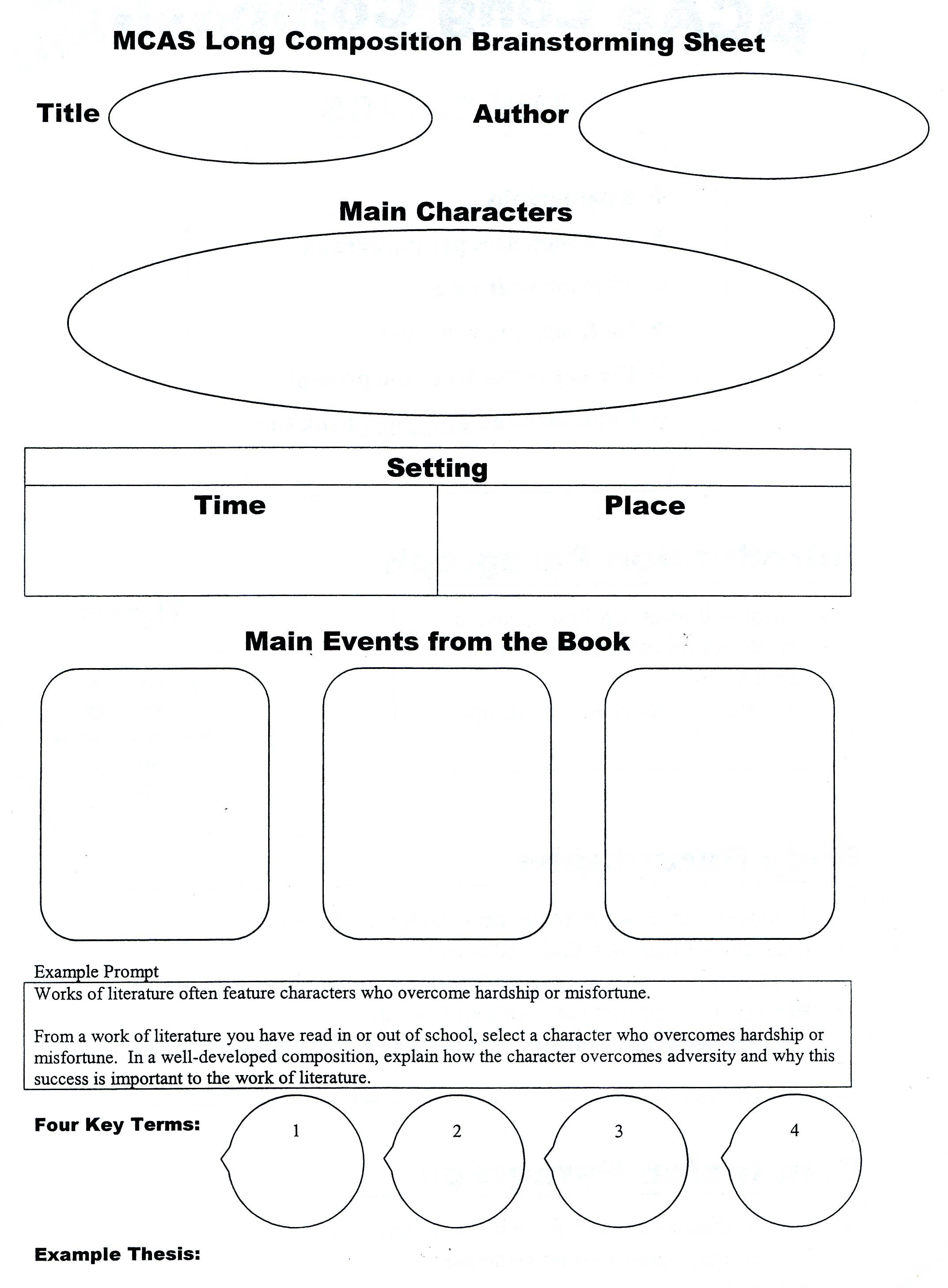 worksheet Literary Elements Worksheet 10 images about graphic organizers on pinterest writing and guided reading