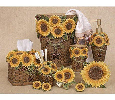 Wastebasket Sunflowers by Linda Spivey | SUNNY SUNFLOWERS! | Pinterest