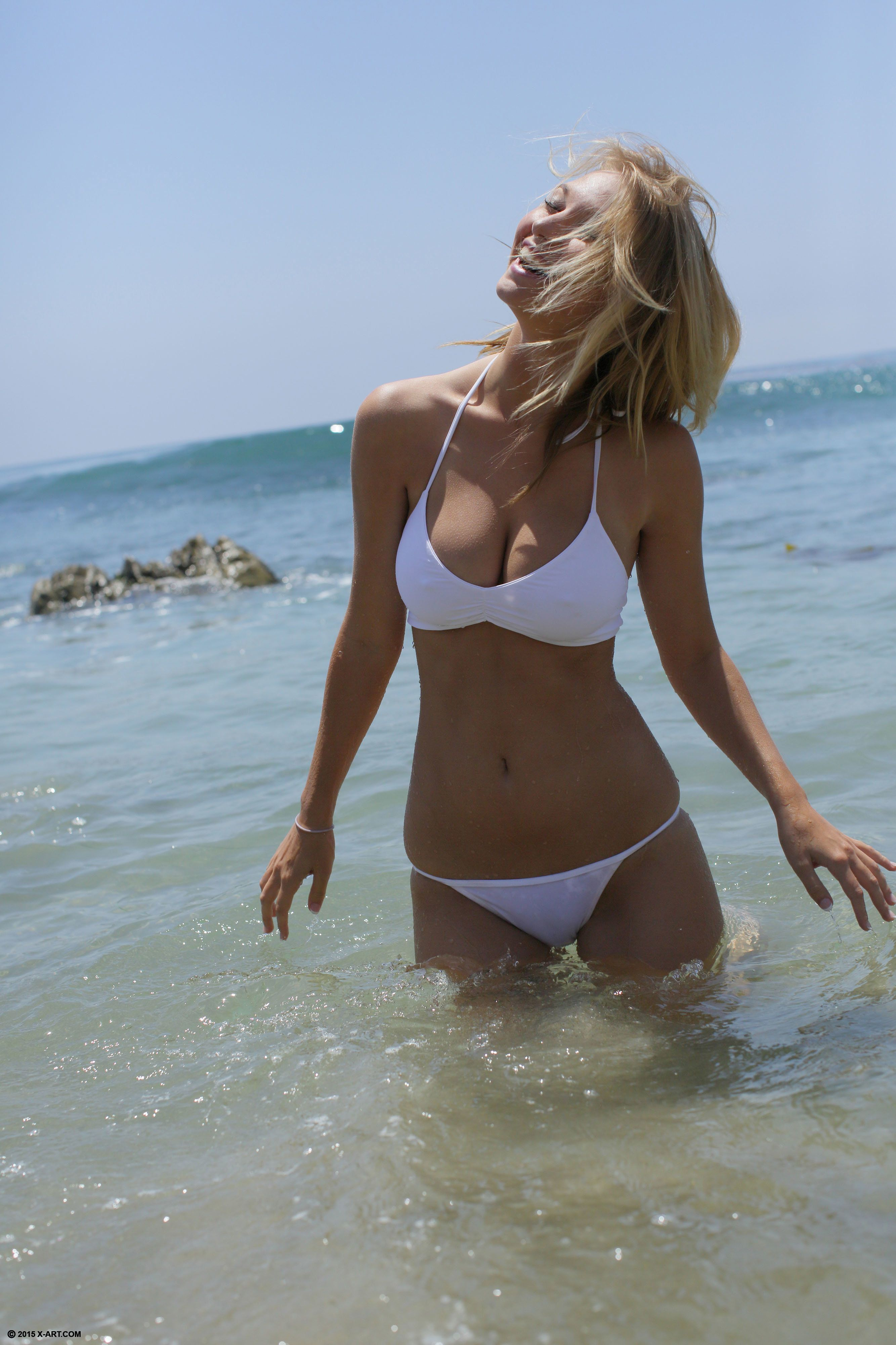 Girls in smallest bikini