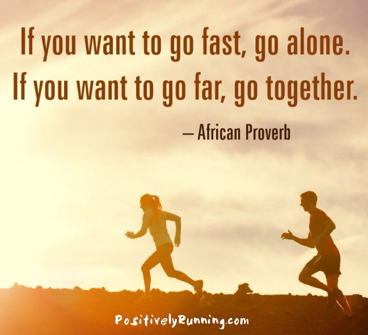 If you want to go fast go alone. If you want to go far go together. - African Proverb via QuotesPorn on January 23 2019 at Sayings, African, Proverbs, Girls Be Like, Words, Motivation, Motivation Inspiration, African Proverb, Wisdom
