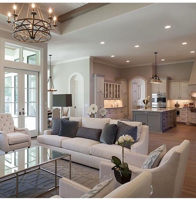 French Country Garden Design Layout: Interior Design And Great Open Floor Plan