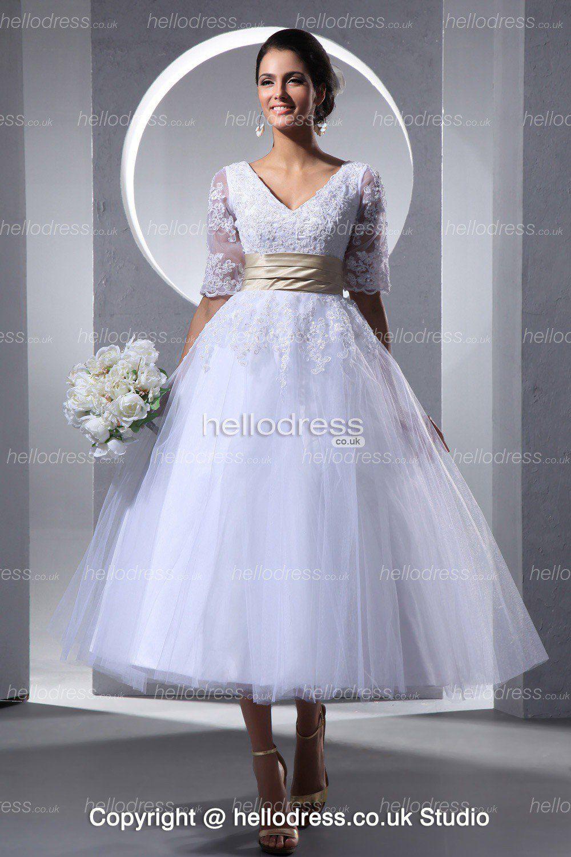 Tea Length Wedding Dresses Online Uk 51