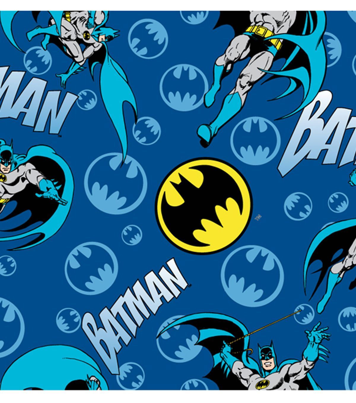 dc comics batman bat signal logo flannel fabric them 42