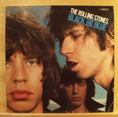 THE-ROLLING-STONES-Black-and-Blue-Vinyl-LP-Hot-Stuff-Fool-to-cry-RARE