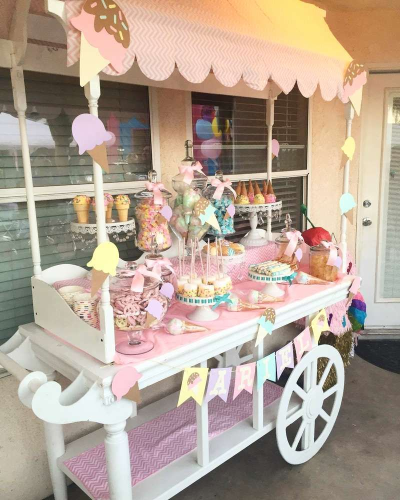Ice Cream Birthday Party Ideas | Photo 4 of 13 | Catch My Party #icecreambirthdayparty