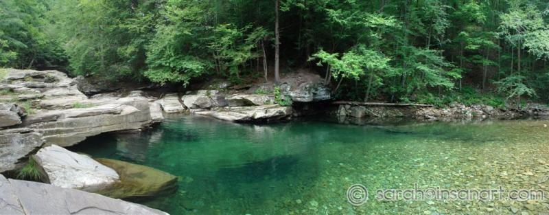 swimming hole at rock run PA  This is sooo beautiful but SO cold