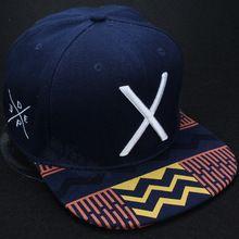 Chapéus e bonés snapback basebol moda azul quente profundo coleção 2014 para homem legal de algodão ajustáveis esportes hip hop letra X barato(China (Mainland))