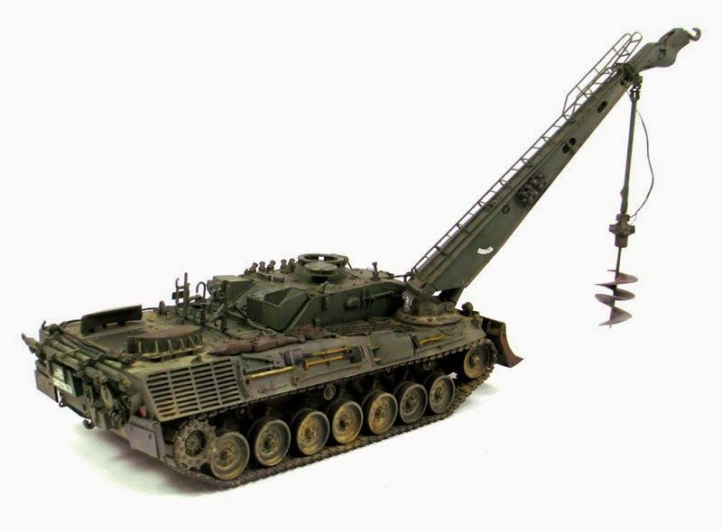 Leopard 1 AEV 1 With Interior 1/35 Resin Kit By TRM