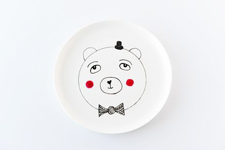 DIY: Boris the Bear Plate by Rachael from Penelope and Pip