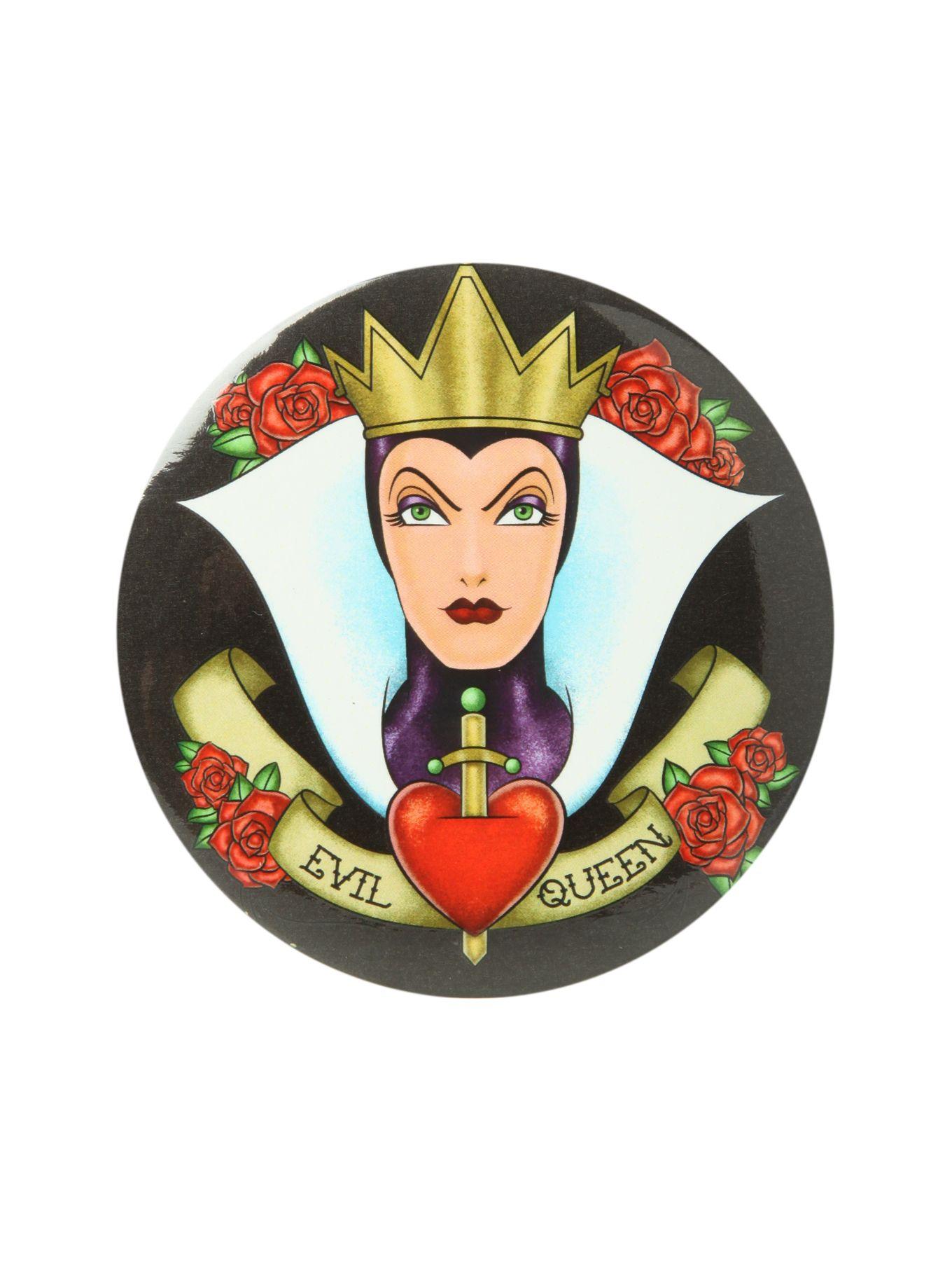 Disney Snow White Evil Queen Button Mirror | Hot Topic