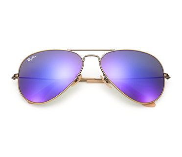 ray ban model rb3025  Frame Color: Brushed Bronze Lens Color: Purple Mirrored Model: RB ...