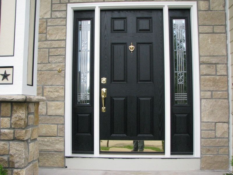 Provia heritage fiberglass entry doors in 2019 - Installing prehung exterior door on concrete ...