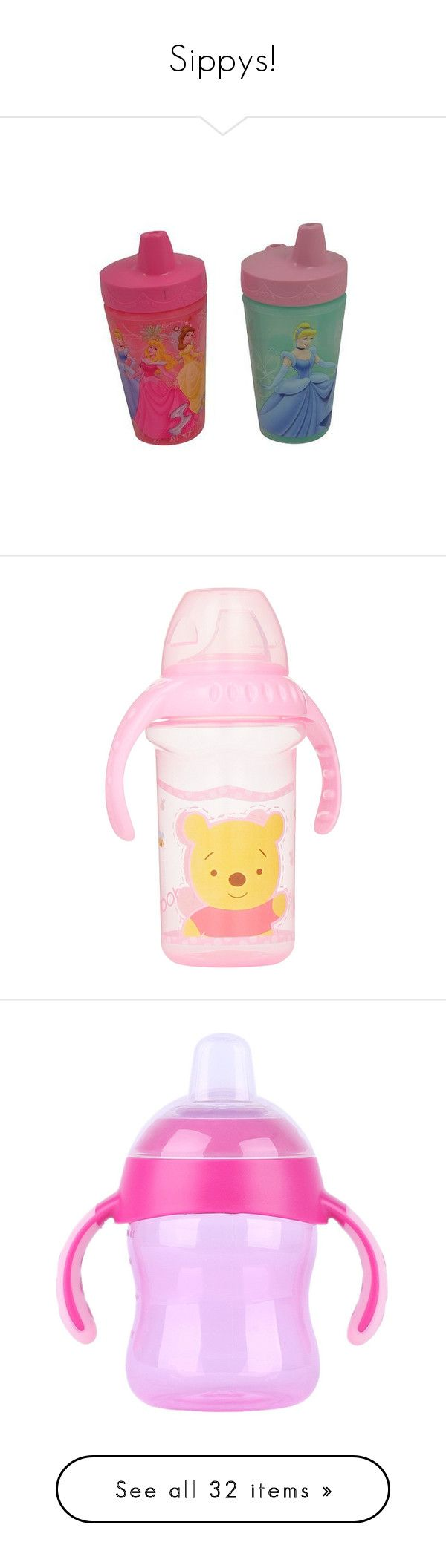 """""""Sippys!"""" by lildinokitten ❤ liked on Polyvore featuring baby, baby stuff, sippy cups, kids, baby boy, sippy cup, 55. bottles & cups., baby bottles, baby girl and bottles"""