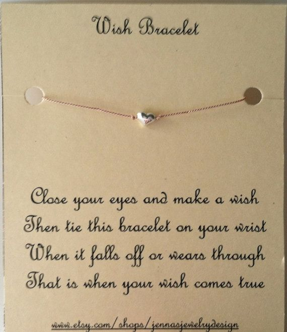 wish bracelet ... cute present for friends