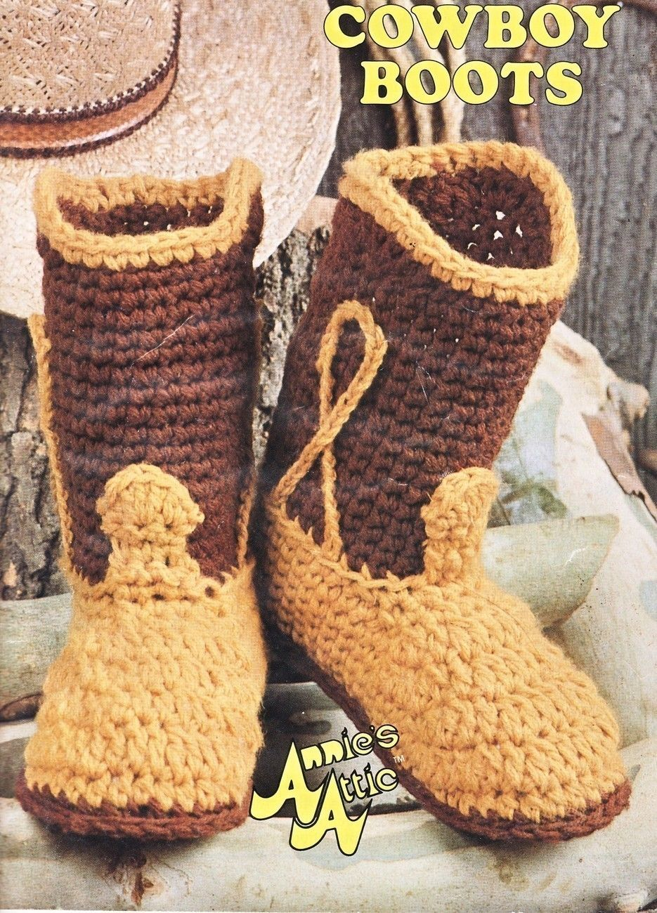 Big Foot Boutique Cowboy Boots Crochet Pattern 7 Sizes Western ...